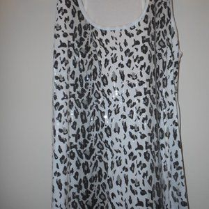 NEW Black Leopard Glitter Tank Top